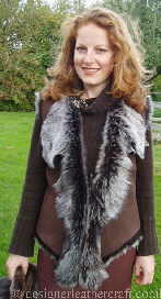Happy Customer in Her Toscana Shearling Gilet
