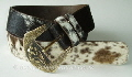 black-brown_and_white__hair_cowhide_belt_with_vintage_buckle