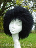 black mongolian sheepskin hat