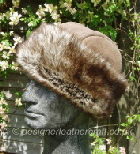clasic sheepskin hat with toscana band