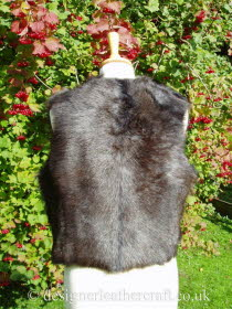 Back of the Wolf Toscana Shearling Gilet Reversed  BL18