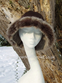 Brown Brisa Toscana Shearling Hat Flair