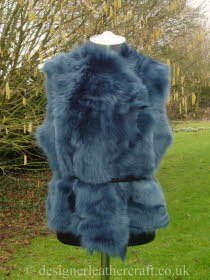 Deep Blue Toscana Shearling Gilet Reversed