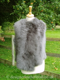 Front of the Grey Nappalan Toscana Shearling Gilet Reversed BL20