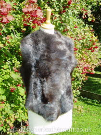 Front of the Wolf Toscana Shearling Gilet Reversed BL18