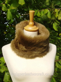 Small Golden Brown Toscana Shearling Snood